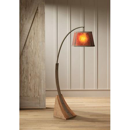 Franklin Iron Works Mission Arc Floor Lamp Dark Rust Metal
