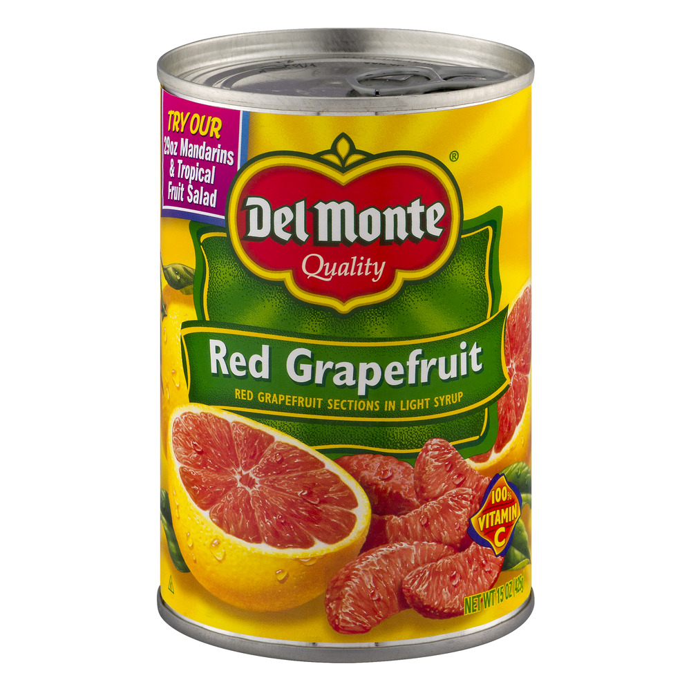 Del Monte Red Grapefruit in Light Syrup, 15.0 OZ