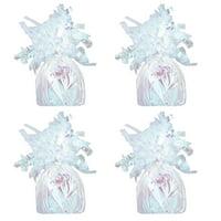 Foil Balloon Weight, Iridescent, 4-Pack (4 Weights)