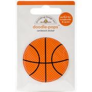 Doodlebug Doodle-Pops 3D Stickers-Slam Dunk Basketball