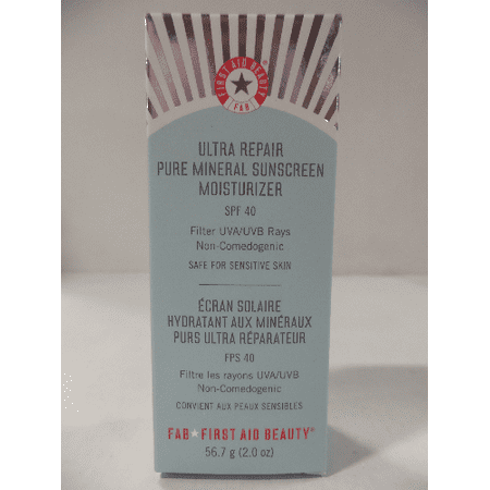 First Aid Beauty Ultra Repair Pure Mineral Sunscreen Moisturizer Spf40 56 7G 2Oz