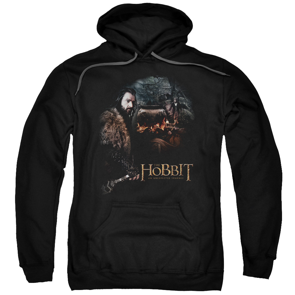 THE HOBBIT/CAULDRON-ADULT PULL-OVER HOODIE-BLACK-2X