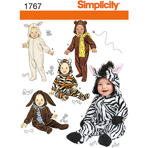 Simplicity Pattern Babies' Costumes, (XS, S, M, L)