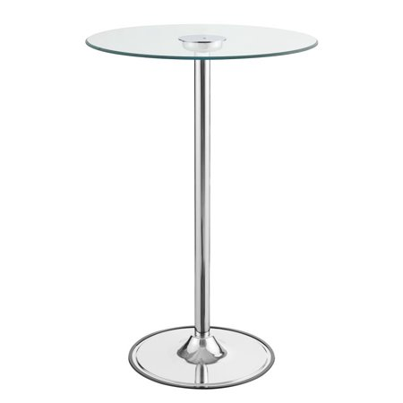 Coaster Contemporary Led Bar Table With Chrome Finish 122400 Finished Bar Table