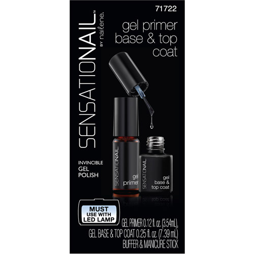 SensatioNail Gel Primer Base & Top Coat, 71722, 4 pc