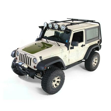 Rugged Ridge 11703.21 Roof Rack For Jeep Wrangler (JK), Powdercoated Black