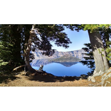 Wizard Island - LAMINATED POSTER Oregon Wizard Island National Park Blue Crater Lake Poster Print 24 x 36