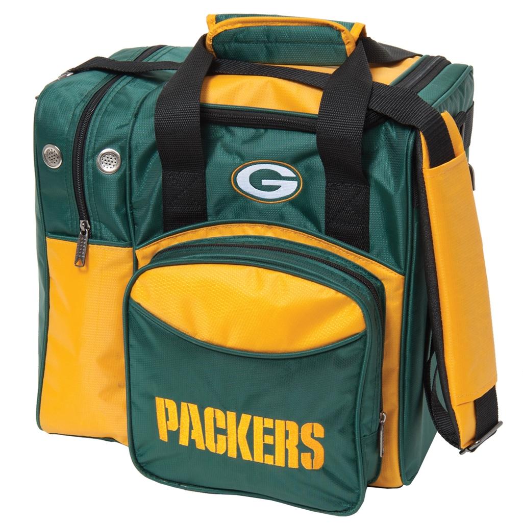Green Bay Packers NFL Single Bowling Bag Green/Yellow