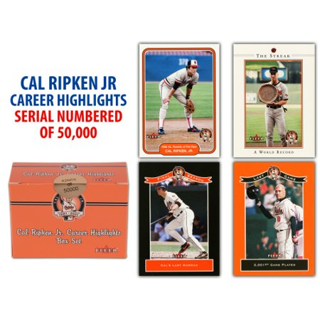 Fanatics Authentic Cal Ripken Jr. Baltimore Orioles Fleer Trading Card Set of 60 - No - Fleer Baseball Sticker