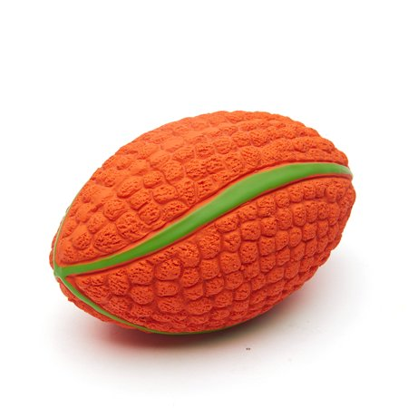 Dog Chewing Ball Rugby Ball Interactive Fetch Non-toxic Durable Chew Bite Toy for Dog Puppy Small Size - image 3 de 7