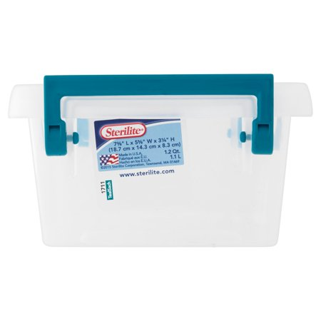 Sterilite 1 2 Qt Modular Latch Box Teal Sachet Available
