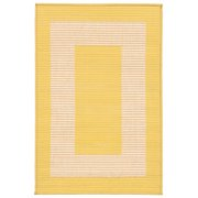 """Terrace Border Rug-Color:Yellow,Size:35""""Lx23""""Wx0.125""""H"""