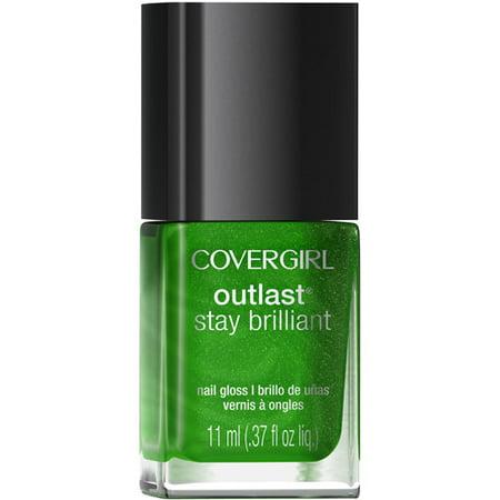 COVERGIRL Outlast Stay Brilliant Nail Gloss Emerald Blaze 50, .37 oz