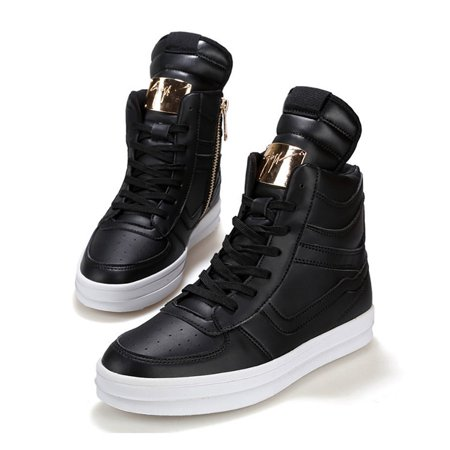 62838316 New Fashion Men's High Top Sneakers Ankle Boots Lace Up Skateboard ...