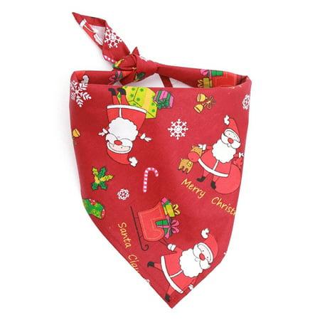 Raypadula 1Pc Christmas Pet Dog Cat Puppy Bandana Cotton Adjustable Pet Bandana Scarf Collar Cat Dog Fashion Magic