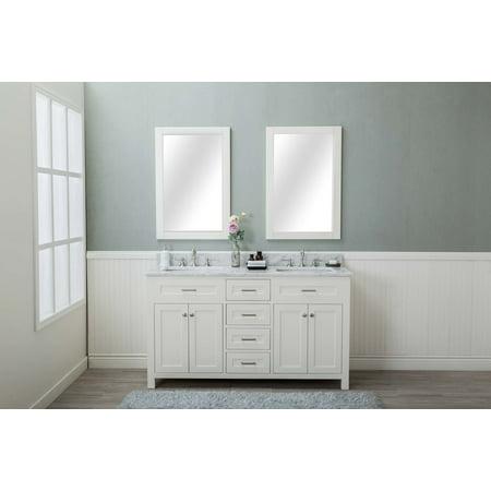 Bathroom Vanity Cabinet Marble - Cabinet Mania White Shaker 60
