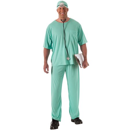 Medical Doctor Scrubs Plus Size Costume - Scrubs Costumes