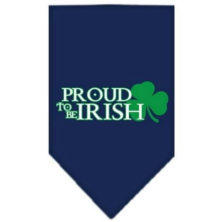 Proud to be Irish Screen Print Bandana Navy Blue - Large Bandanas
