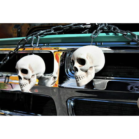 Canvas Print Trunk Or Treat Skulls Halloween Trick Or Treat Stretched Canvas 10 x 14](Trunk And Treat)