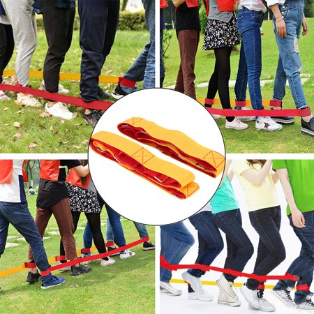 Games For Birthday Parties (snorda 5 Legged Race Bands Outdoor Game for Kids Adults Birthday Team Party)