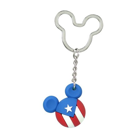 Icon Ball Key Chain - Disney - Mickey Flag Key Ring - Puerto Rico New 85717