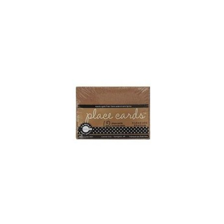 Include Envelopes - Canvas Corp Packaged Cards and Envelopes (Place Cards Kraft) (3 Units Included)
