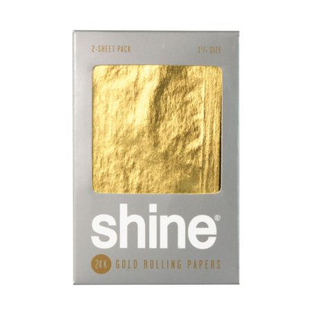 2pk - Shine 24K Gold Rolling Papers - 1 1/4