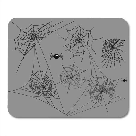 Scary Halloween Silhouettes (KDAGR Cobweb Spider Halloween Black Insect Spiderweb Horror Danger Trap Scary Silhouette Arachnid Border Mousepad Mouse Pad Mouse Mat 9x10)