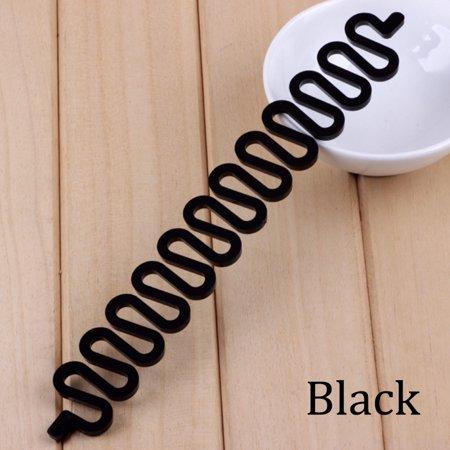 Day Black Roller (LANBOWO Fashion Hair Braiding Braider Tool Roller With Magic hair Twist Styling Bun Maker)