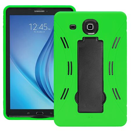 online store 833bb cd005 Samsung Galaxy Tab E 9.6 / T560 Hybrid Silicone Case Cover Stand Green