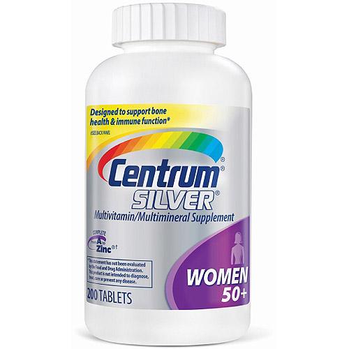 Centrum Silver Women's Multivitamin/Multimineral Supplement - 200 Tablets