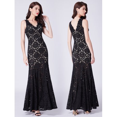 7ce68e027bcb Ever-pretty - Ever-Pretty Women's Lace Mermaid Elegant Long Plus Size Evening  Cocktail Night Party Dresses for Women 07389 US 16 - Walmart.com