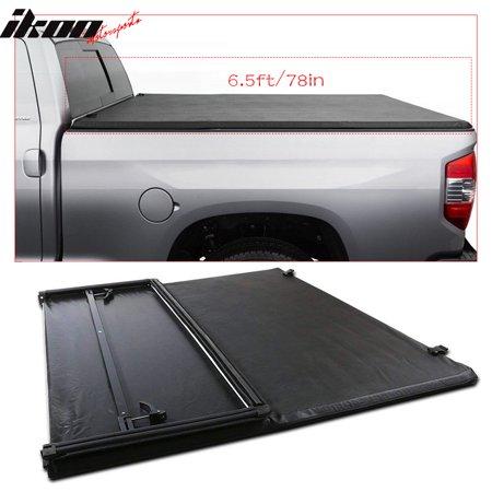 c961325c56e Fits 97-03 Ford F-150 6.5ft 78in Bed Black Tri-Fold Soft Tonneau Cover -  Walmart.com