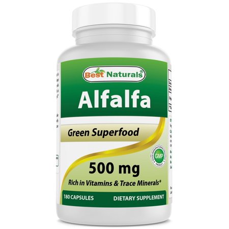 Best Naturals Alfalfa Green Super Food 500 mg 180