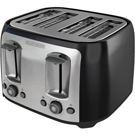 black decker 4 slice multi function toaster bagel toaster black tr1478bd best toasters. Black Bedroom Furniture Sets. Home Design Ideas