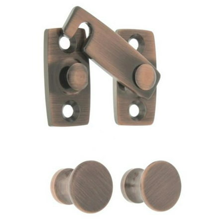 Idh by St. Simons 21021-08A Solid Brass Shutter Bar Kit, Antique Copper