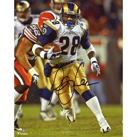 "Marshall Faulk St. Louis Rams Autographed 8"" x 10"" Running Photograph - Fanatics Authentic Certified"
