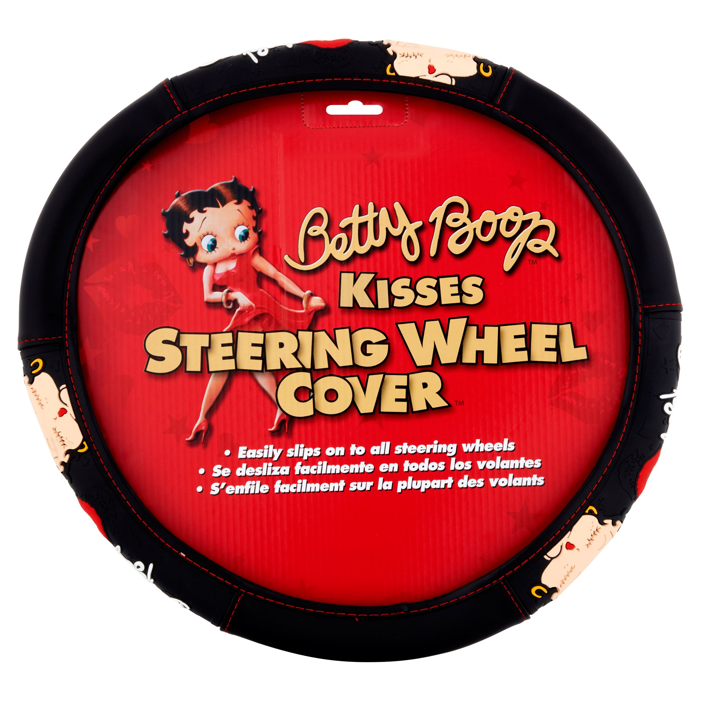 Betty Boop Kisses Steering Wheel Cover