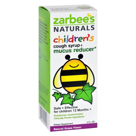Zarbee's Naturals Children's Mucus Relief + Cough Syrup - Grape - 4 (Zarbees Cough Syrup And Mucus Relief Reviews)