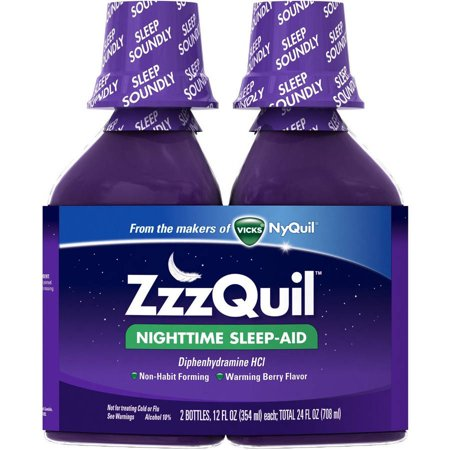 Vicks Zzzquil Sleep Aid, Berry, 24 FL OZ (Pack of 6)