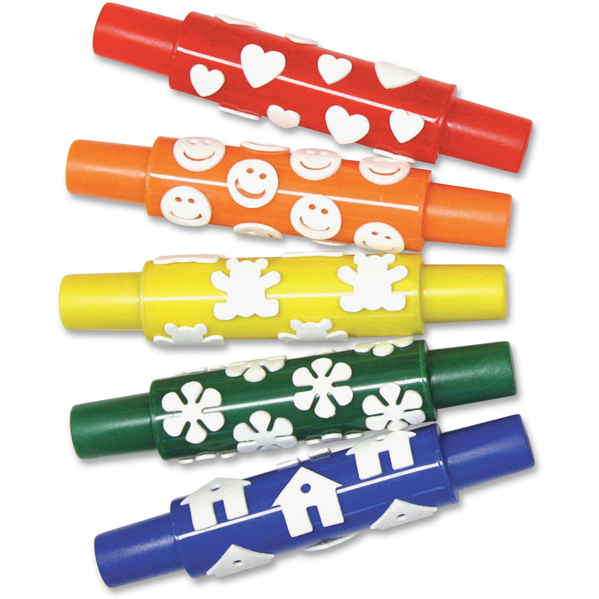 Creativity Street, PACAC9084, Set A Foam Pattern Rolling Pins, 5 / Set