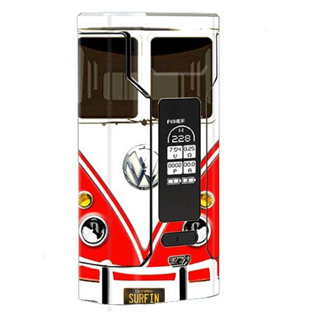 Skin Decal Vinyl Wrap For Wismec Predator 228 Vape Mod Stickers Skins Cover / Vw Bus Red, Split
