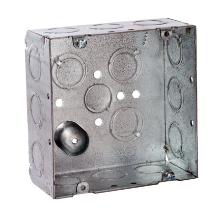 RACO 257 Electrical Box, Square, 4-11/16