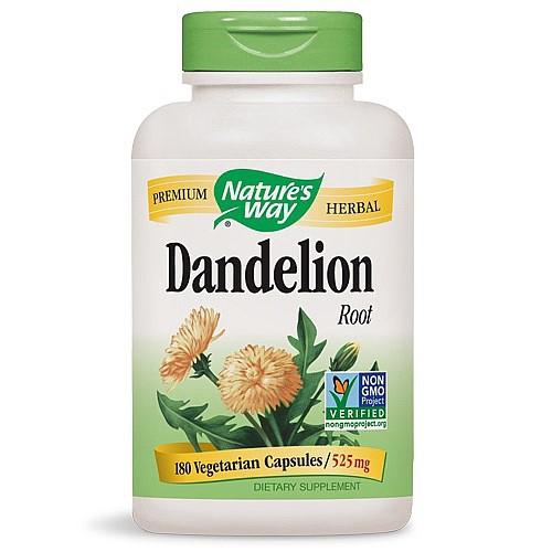 Nature's Way Dandelion Root Vegetarian Capsules, 180 Ct