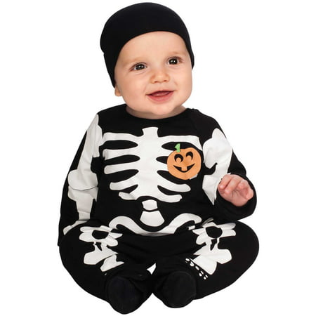Rubie's My First Halloween Black Skeleton Costume, Black, Newborn - Newborn Costumes 0 3 Months