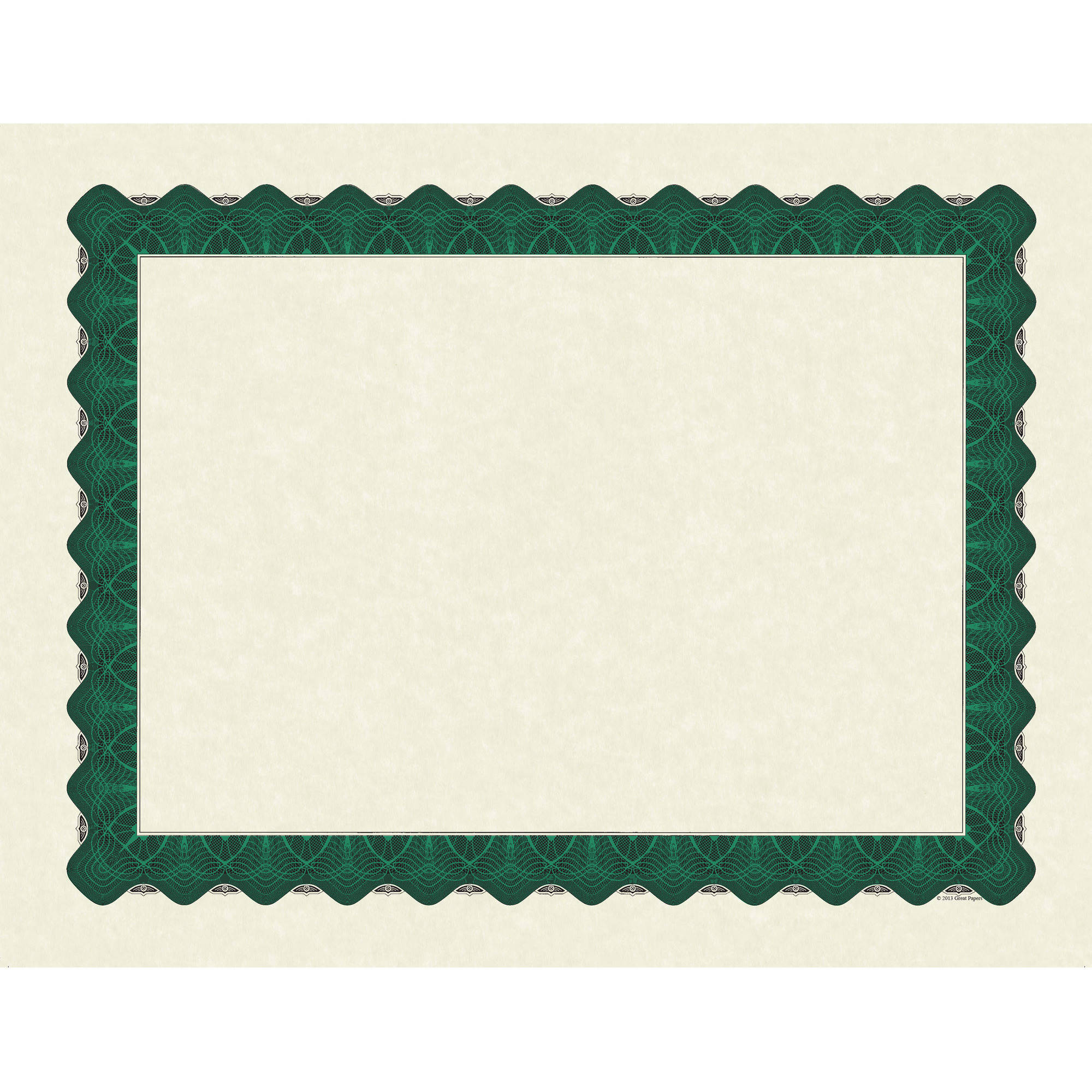 Great Papers! Metallic Green Premium Quality Certificates, 100ct