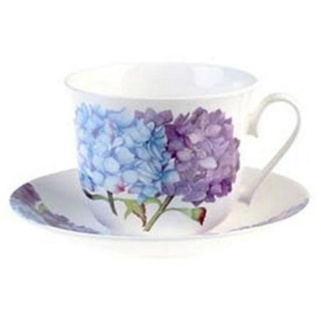 Roy Kirkham Breakfast Cup/Saucer - Hydrangea - Set of 2 - image 1 of 1