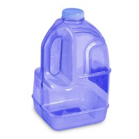 "1 Gallon BPA FREE Reusable Plastic Drinking Water Big Mouth ""Dairy"" Bottle Jug Container with Holder - Dark Blue"