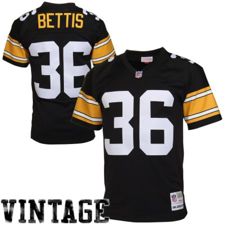 brand new d1db4 b454f Jerome Bettis Pittsburgh Steelers Mitchell & Ness Retired Player Vintage  Replica Jersey - Black