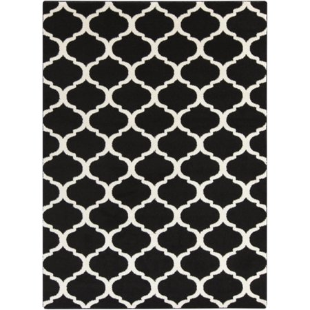 (2' x 3' Celestial Gem Silhouette Onyx Black and Winter White Area Throw Rug)